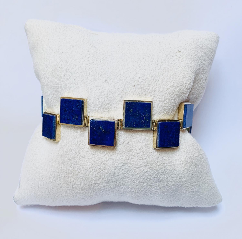 Handgemaakte lapiz lazuli armband  - Goudcentrum.nl
