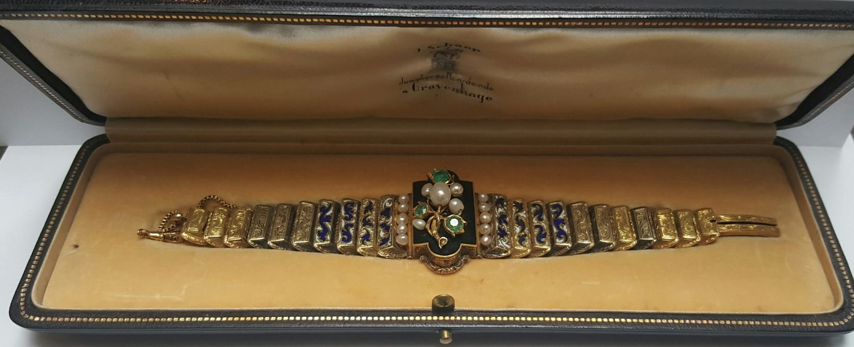 VERKOCHT Antiek gouden armband EXCLUSIEF - Goudcentrum.nl