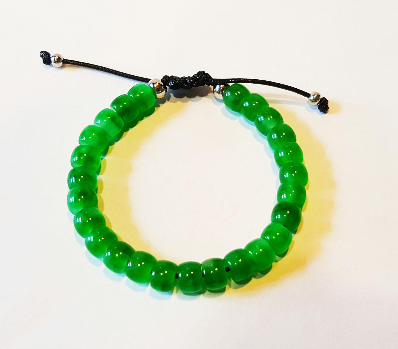 Jade armband met 925 zilveren bollen  - Goudcentrum.nl