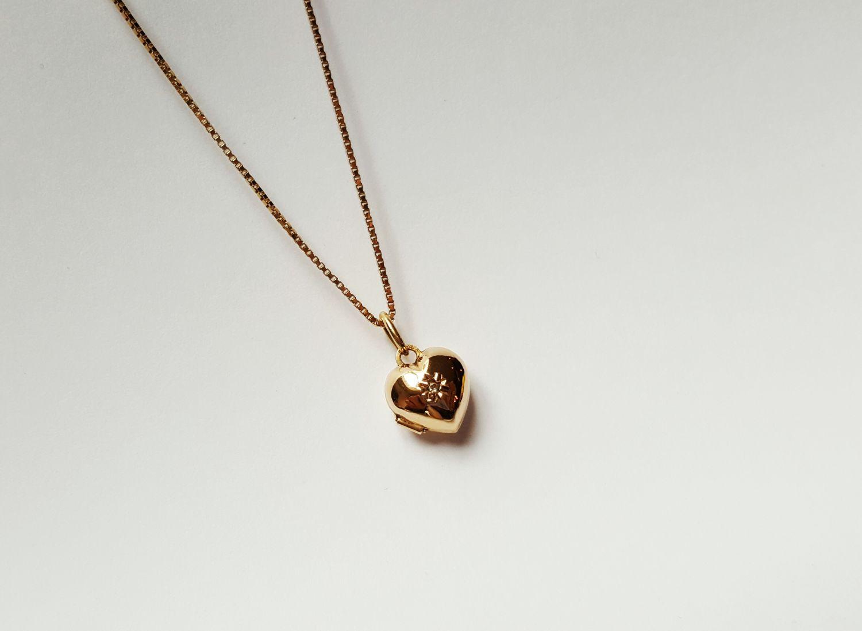 Gouden medaillon ketting  - Goudcentrum.nl