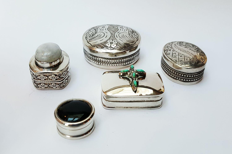 Zilveren miniatuur doosjes  - Goudcentrum.nl